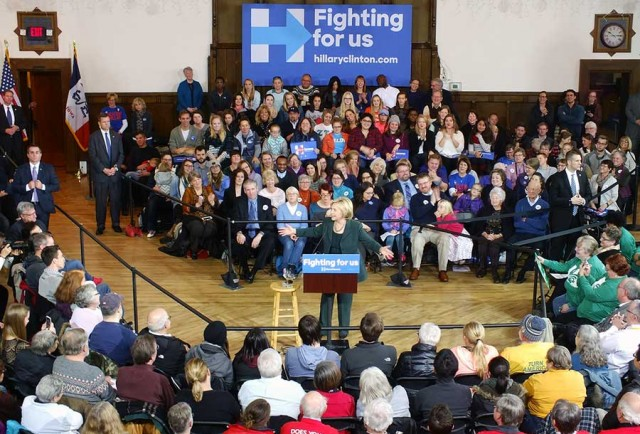 Hillary Town Hall at Old Brick in Iowa City on Dec 16th.